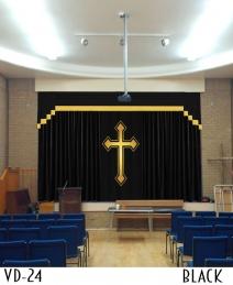 VELVET CHURCH CURTAINS FOR SALE