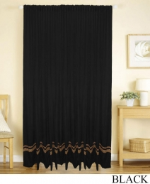 Striped Velvet Panel Drapes