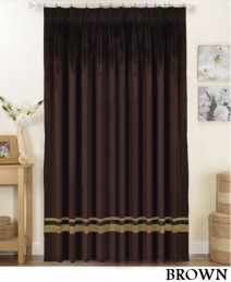 Striped Pleated Velvet Curtains