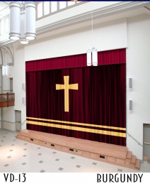 Chapel Sanctuary Velvet Curtains