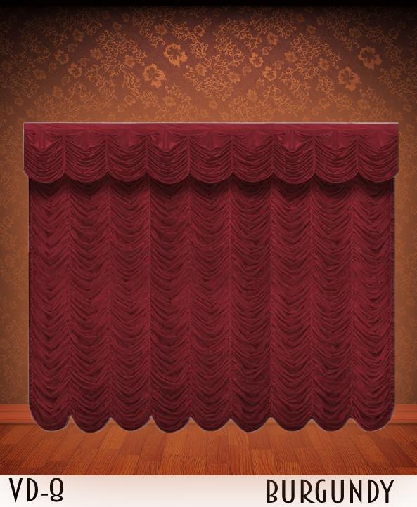 Burgundy Austrian Curtains
