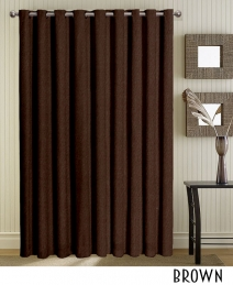 Brown Grommet Curtains