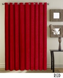 Grommet Red Curtains and Drapes