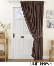 140z Pinch Pleated Velvet Curtain Decor