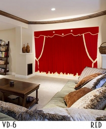 Red Home Theater Curtains