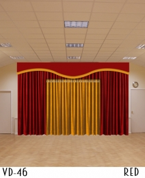 Double Color Decorative Stage Curtains