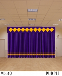 New Design Restaurant Velvet Curtain Decor