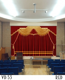 Luxury Stage Curtain Decor Hall Theater