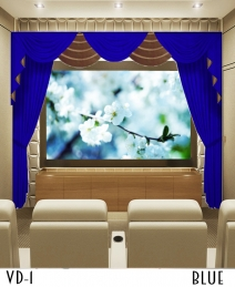 Blue Home Theater Drapes