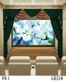 Green Home Theater Drapes