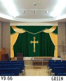 New Design Decorative Church Curtain