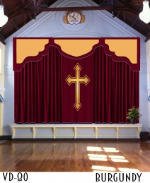 CHURCH BACKDROP CURTAINS PULPIT DRAPES