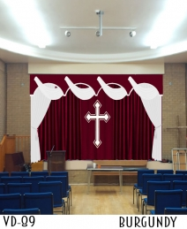 VELVET DRAPERY FOR CHURCH STAGE THEATER SCHOOL CHAPEL
