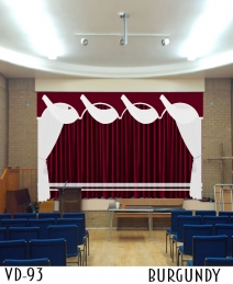VELVET STAGE CURTAINS FOR SCHOOLS COLLEGE AUDITORIUM