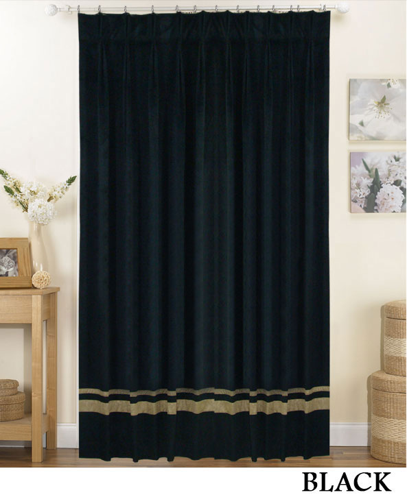 Striped Pinch Pleat Curtains