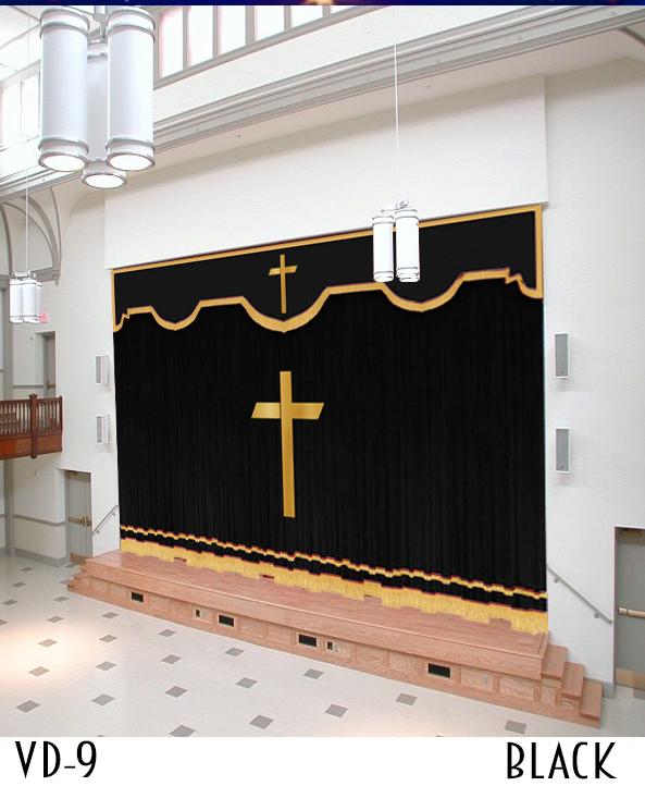 Black Church Curtain