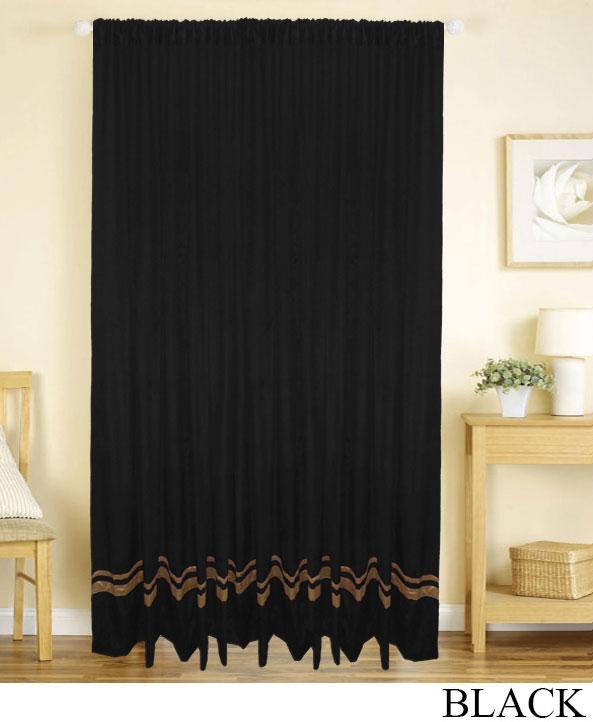 Striped Velvet Panel Drapes