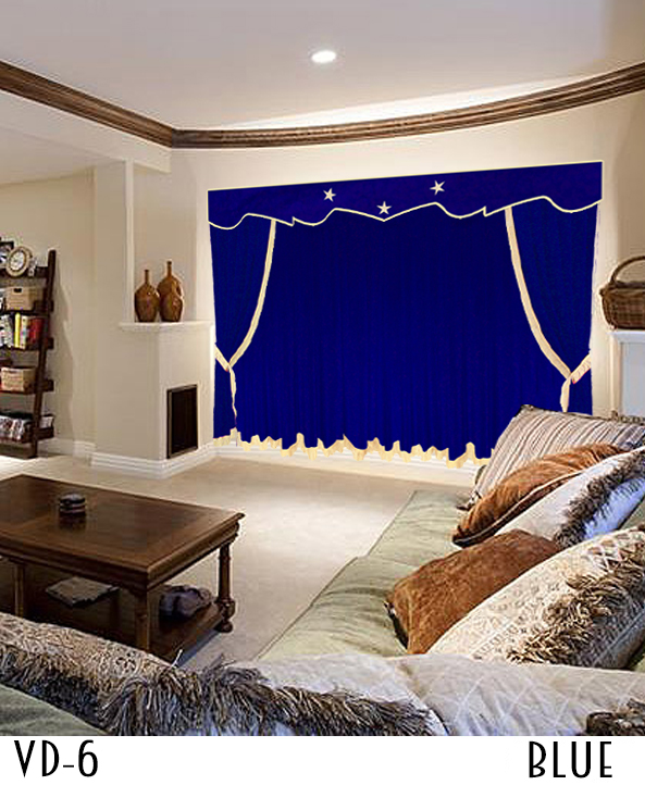 Blue Movie Theater Curtains