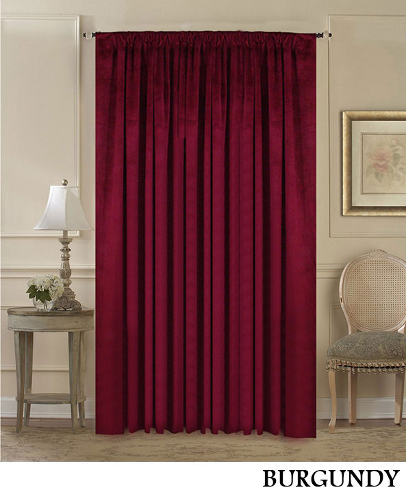 Burgundy Room Divider Curtain