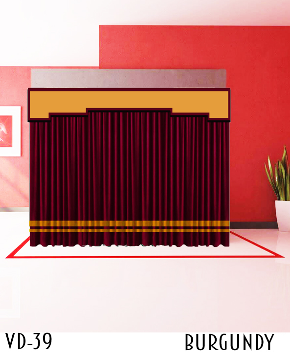 Cheap Stage Curtain For Hotel Restaurant Event Auditorium