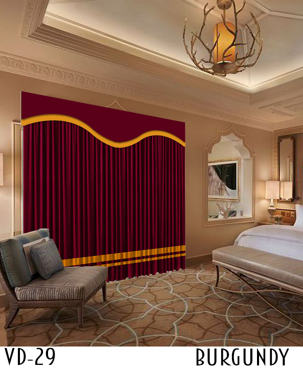 Custom Restaurant Designer Velvet Curtain