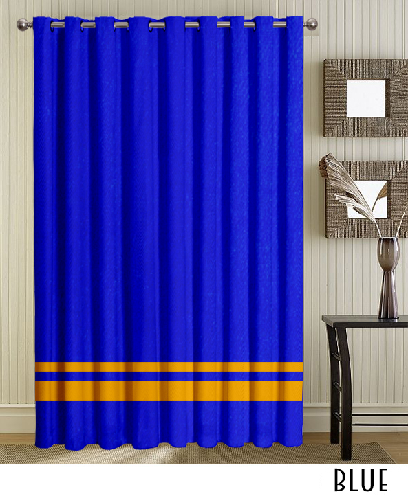 Blue Grommet Striped Curtains