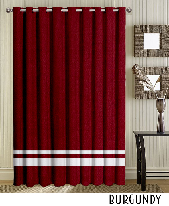 Burgundy Grommet Top Curtain Panel