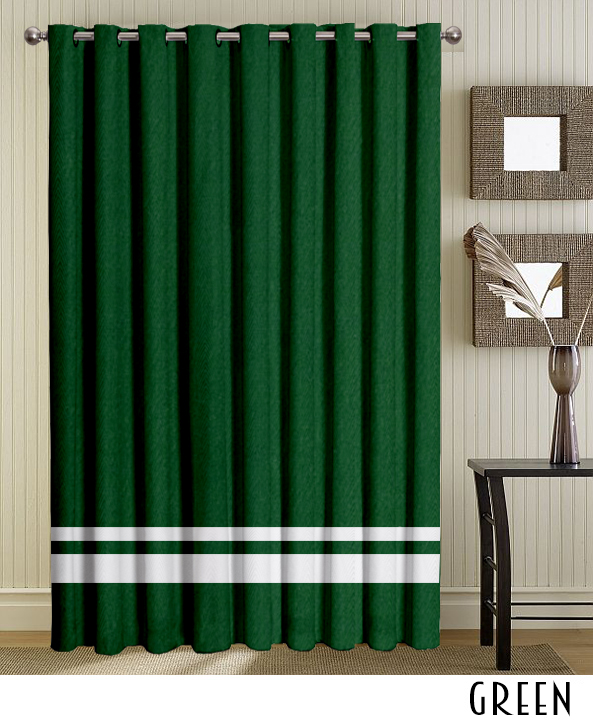 Top Tab Grommet Velvet Stripe Curtain