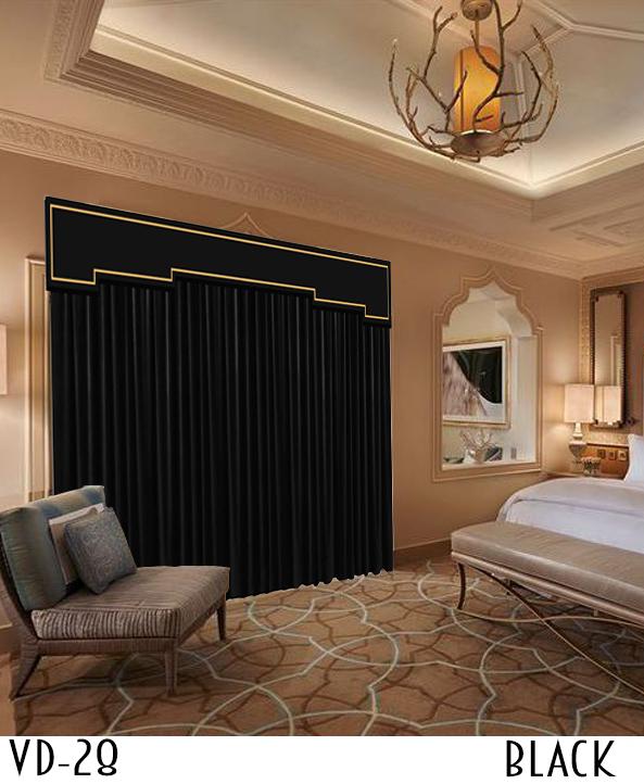 Decorative Hotel Velvet Curtain Decor