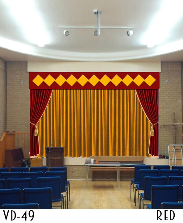 Designer Hotel Golden Combination Curtain