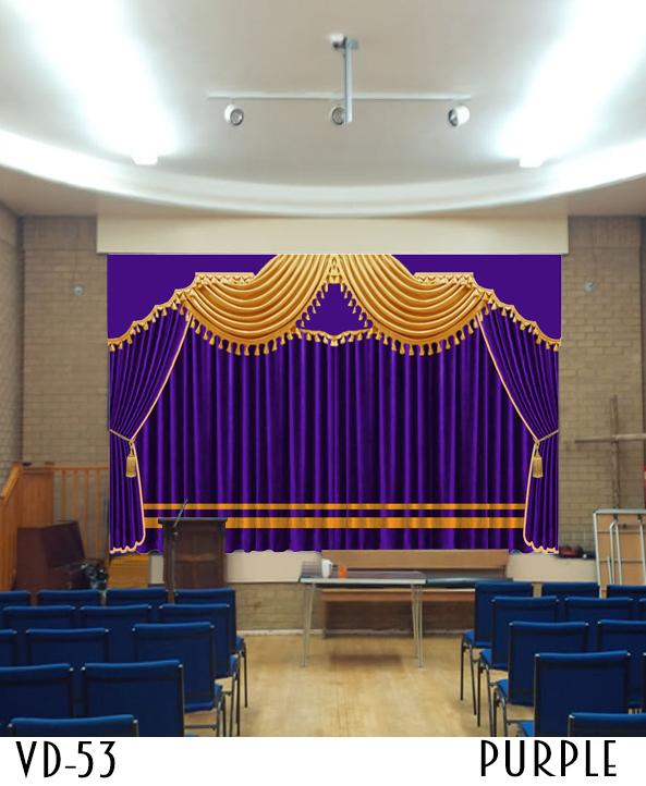 Luxury Hotel Curtain Decor Hall