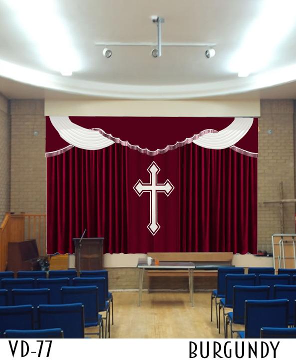 CHURCH BACKDROP DRAPERY STYLES SANCTUARY