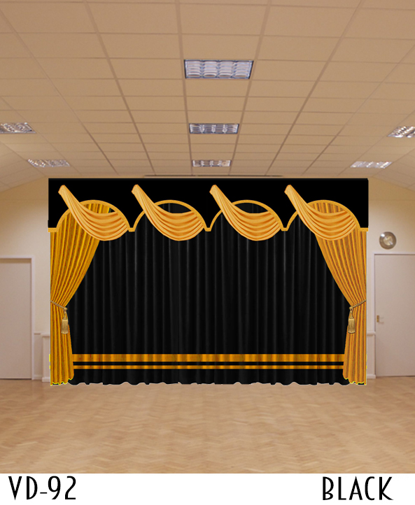 VELVET STAGE CURTAINS FOR ELEMENTARY SCHOOL AUDITORIUM