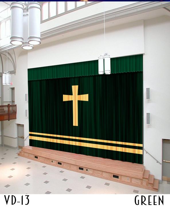 Chapel Sanctuary Velvet Curtains