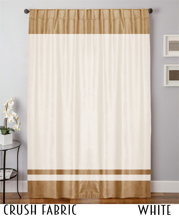 Decorative Crush Velvet Curtain Drapes