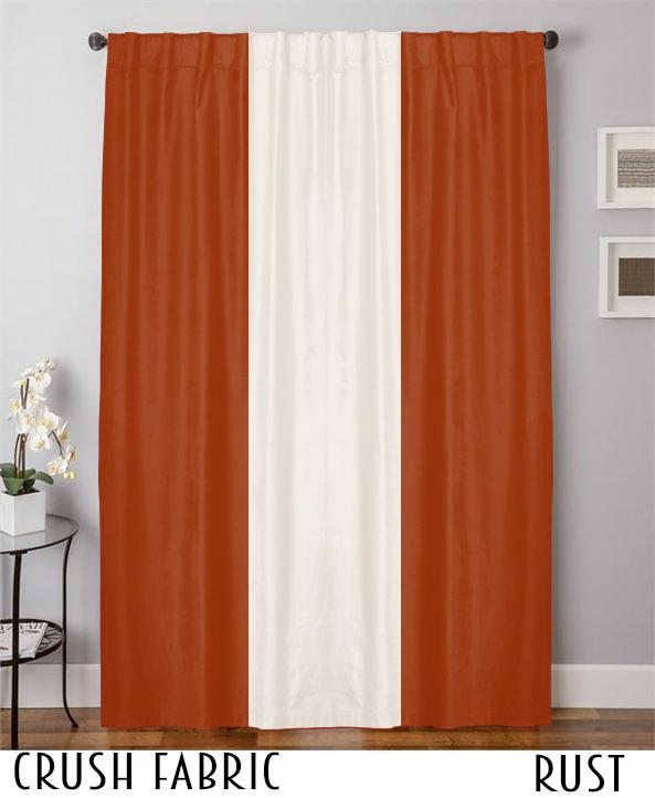 Double Color Velvet Curtain Drapes