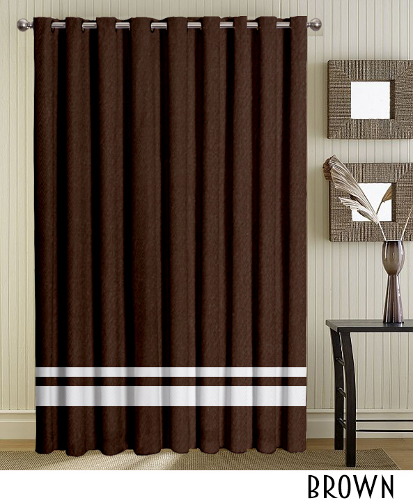 White Strip Brown Grommet Panels