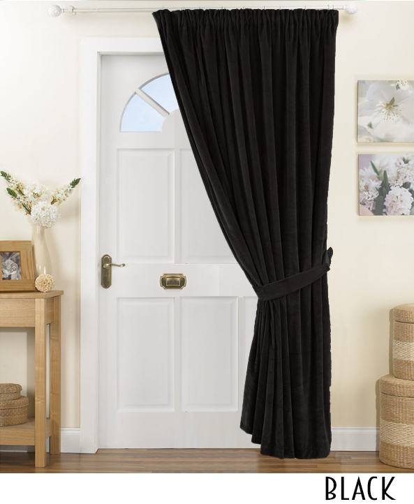 140z Pinch Pleated Velvet Curtain
