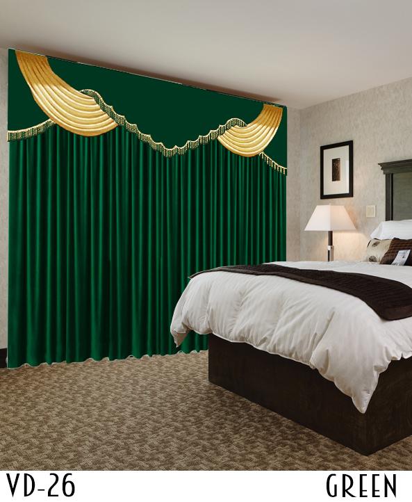 Velvet Drapery Decorative Curtain For Hotel