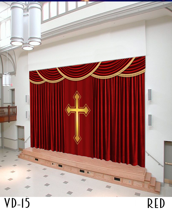 CUSTOM SIZE CURTAINS FOR CHURCH