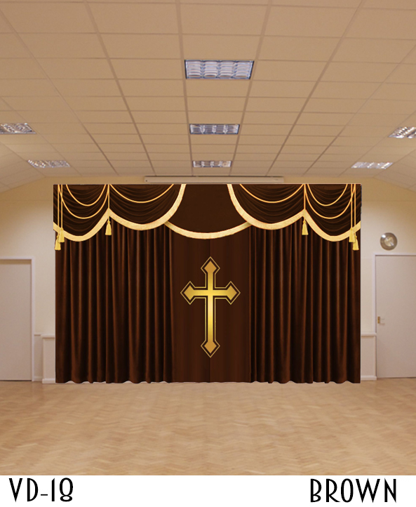 CHURCH DECORATIVE CURTAIN