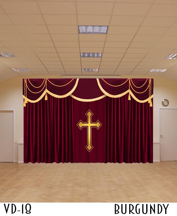 CHURCH DECORATIVE CURTAIN