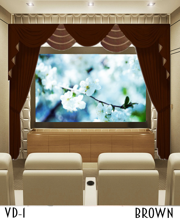 Black Home Theater Drapes