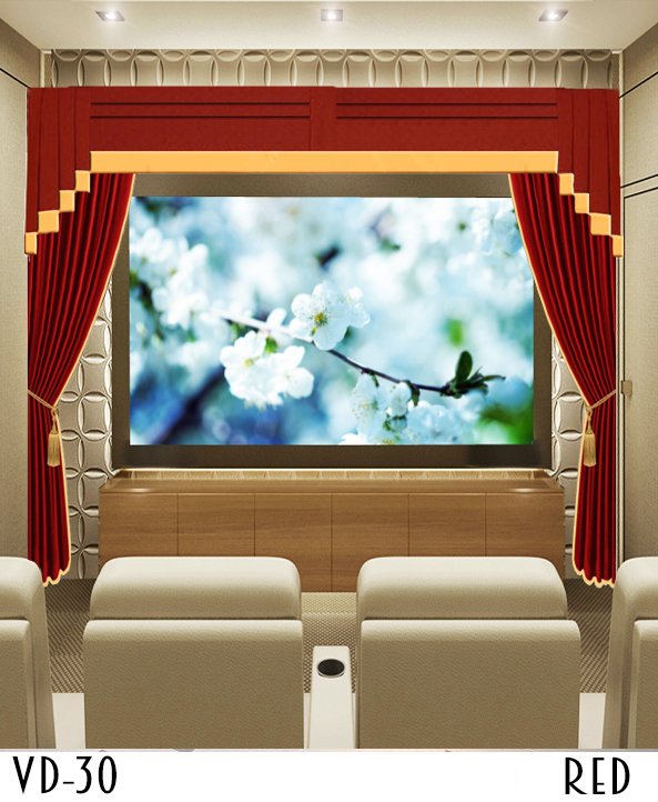 Custom Size Movie Screen Curtains
