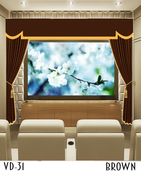 Luxury Theater Screen Drapes