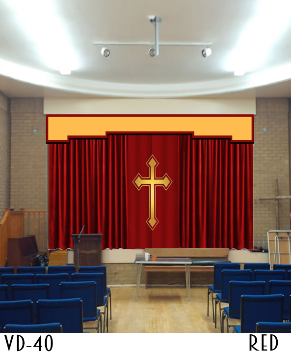 Decorative Cheap Church Curtain