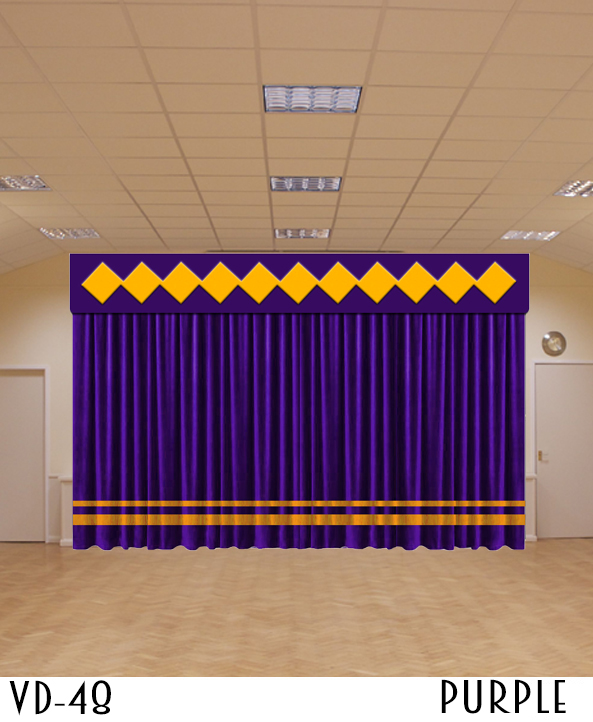 New Design Hotel Velvet Curtain Decor