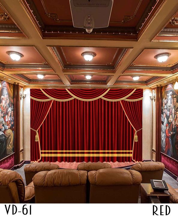LUXURY CURTAIN FOR Stage HALL THEATER EVENTS DECOR