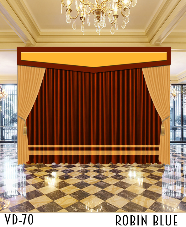 Luxury Hotel Stage Church Curtains