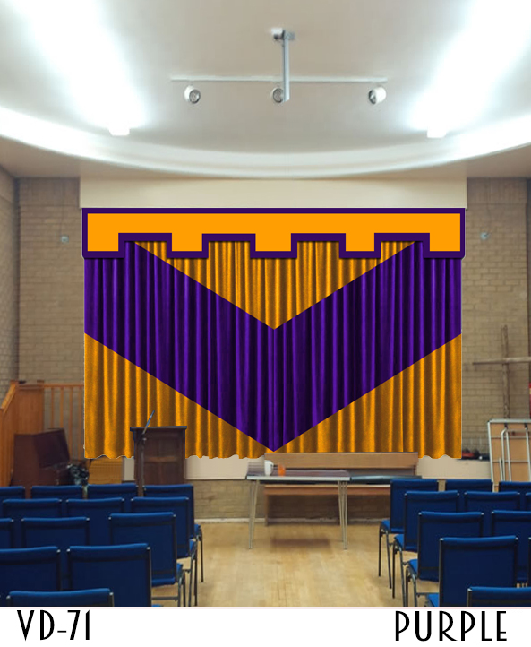 DECORATIVE SCHOOL STAGE CURTAINS
